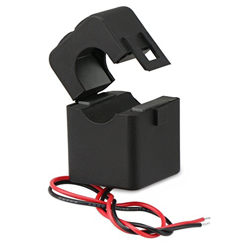 DROK 100A/100mA AC Current Transformer, Mini Clip-on Current Transformers, Split-core Current Transformer, Easy to Install CT without Power Off (Current Transformer Coil compare prices)