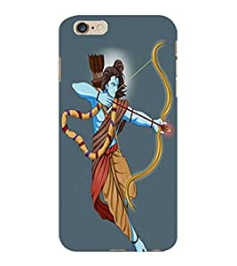 ColourCraft Lord Rama Design Back Case Cover for APPLE IPHONE 6 PLUS