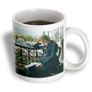 Bln Book And Reading Featured In Fine Art - At The Window, 1881 By Jans Olaf Heyerdahl - 11Oz Mug (Mug_170984_1)