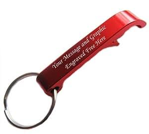 Personalised Red Claw Beer Bottle Opener Keyring, by RMI U-15 Laser