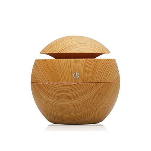 Morrivoe 130mL Wood Grain Essential Oil Aroma Diffuser, Air Purify,Portable Ultrasonic Mini Cool Mist Aroma Humidifier for Home, Office, Bedroom Room, Study, Yoga , Beauty Salon (M-BR) (Cpap Machine Water Tank compare prices)