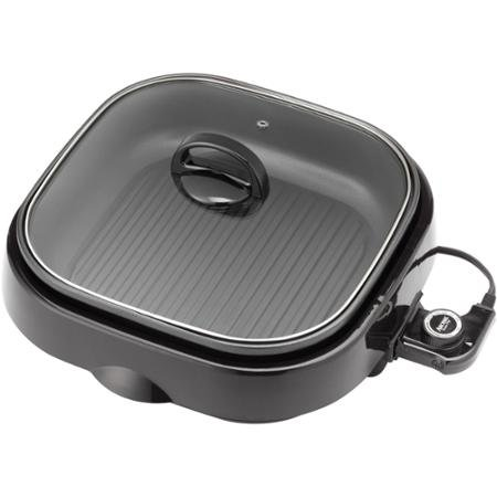 Aroma ASP-218B 3-in-1 Grillet, Black, Large-Capacity, 4 Quart Pot, Slow Cooker, Grill and Steam, Indoor (Aroma 3 In 1 Grill compare prices)