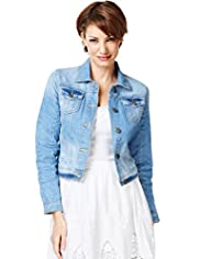 Indigo Collection Pure Cotton Washed Look Denim Jacket