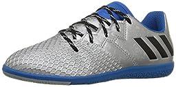 adidas Performance Boys\' Messi 16.3 in J Skate Shoe, Silver Metallic/Black/Shock Blue, 3.5 M US Big Kid