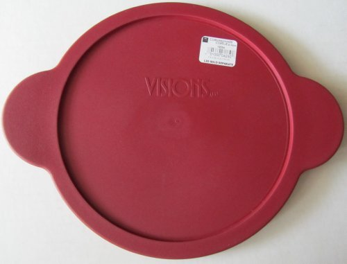 Corning Visions 2.25l Round Stewpot/versapot Cranberry Plastic Lid (Visions Cookware Lid compare prices)