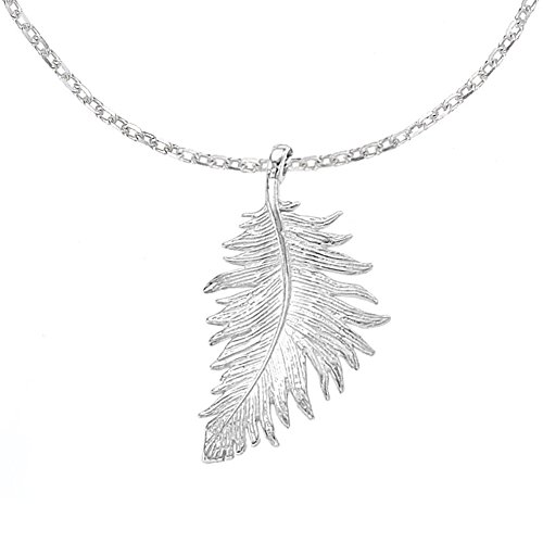 dower-hall-feather-sterling-silver-pendant-on-18-inch-trace-chain