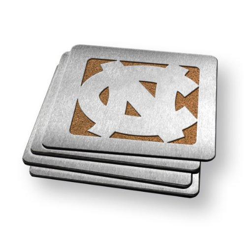 NCAA North Carolina Tar Heels Boasters, Heavy Duty Stainless Steel Coasters, Set of 4