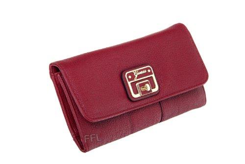 Guess Gerri Slim Clutch Organiser Purse Wallet Ruby