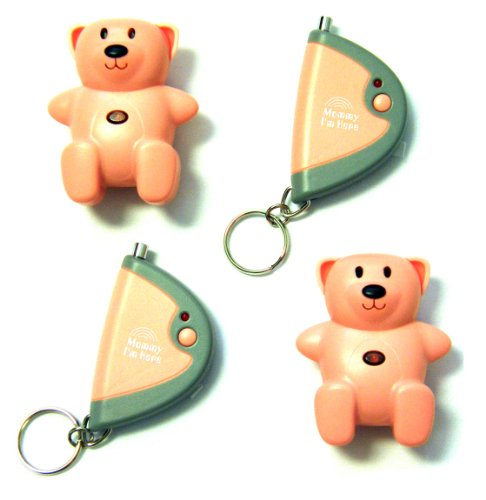 Mommy I'm Here CL-103PK Teddy Bear Remote Child Locator, 2-Pack, Pink