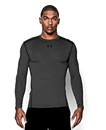 Men\'s Under Armour ColdGear Armour Compression Crew, Carbon Heather (090), Large