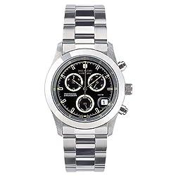 SWISS MILITARY スイスミリタリー ELEGANT CHRONO エレガントクロノ メンズ クロノグラフ腕時計 ブラック 【ML244】 【正規輸入品】