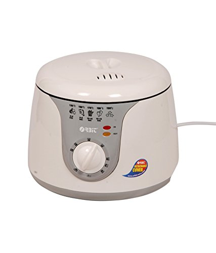 Oobit DF-2000 Electric Deep Fryer, 2 Litre, White