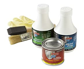 POR-15 45009 Gloss Black Super Starter Kit - 1 fl. oz.
