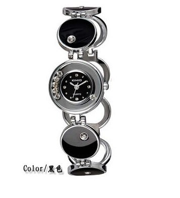 Ufingo-Korean Crystal Fashion Beautiful Popular Bracelet Wrist Watch For Ladies/Women/Girls-Black