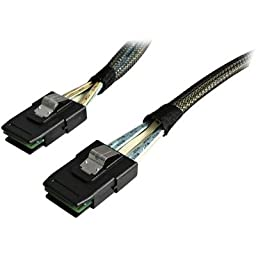 2N72327 - StarTech.com 100cm Serial Attached SCSI SAS Cable - SFF-8087 to SFF-8087