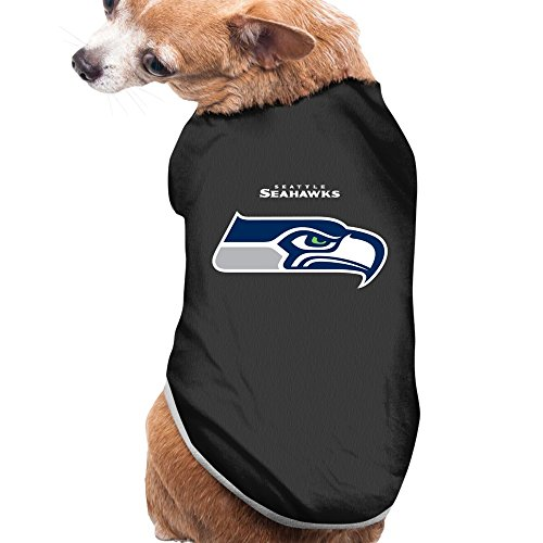 Black Seattle Seahawks 2016 Football Pet Dog Sweater Doggie Jacket
