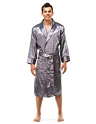 Noble Mount Mens Premium Satin Robe – Introductory Pricing