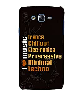 printtech Cool Quotes Music Back Case Cover for Samsung Galaxy A5 / Samsung Galaxy A5 A500F