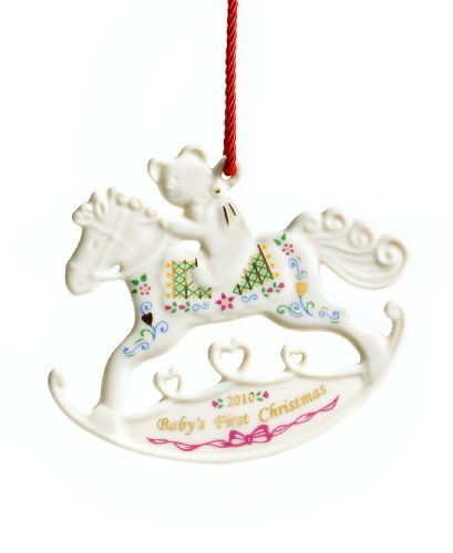 Lenox 2010 Annual Christmas Ornament Baby'S First Rocking Horse - Macys Exclusive front-703612