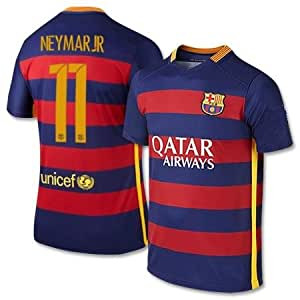 Amazon.com : Barcelona Home Neymar Kids #11 Soccer Kit Jersey and