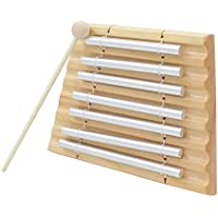 Magideal Kids Play 7 Tone Silver Chime Drumstick Beat Musical Percussion Toy Gift