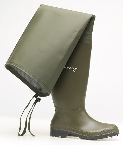 PRICEMASTER THIGH Fishing Wader - Green - Green - size M9½