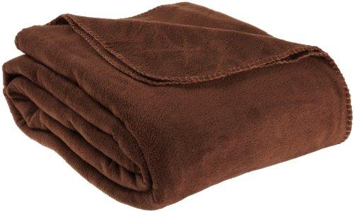 Supreme Twin Fleece Blanket, Chocolate