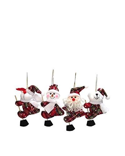 Set Decorazione Natalizia 4 pezzi Christmas
