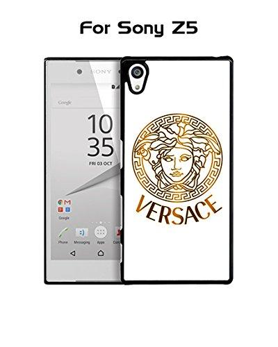 Brand Logo Versace Sony Z5 Custodia Case - Creative Plastic Cute Hard Shell Ultra Slim Rugged Custodia Case cover for Sony Xperia Z5 (Only For Sony Z5)