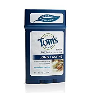 Tom's of Maine Tom's of Maine Men's Long Lasting Deodorant, Mountain Spring, 2.25 Ounce
