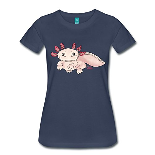 Spreadshirt Damen Axenia Axolotl T-Shirt, navy, M