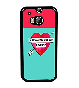 PrintDhaba Quote D-2632 Back Case Cover for HTC ONE M8s (Multi-Coloured)
