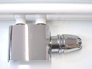 HERZ Anschlussgarnitur Badheizkörper Mittelanschluss 50mm Chrom Durchgang Zweirohrsystem  BaumarktKundenbewertung und Beschreibung
