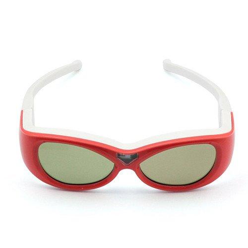 Ultra (TM) Infrarot Kinder Childrens Active Shutter 3D-Brille von Gonbes Rot in Farbe für Samsung Sony Panasonic LG Sharp Toshiba Philips Epson Mitsubishi TVs