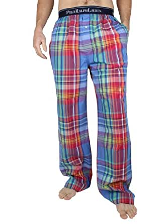 Polo Ralph Lauren - Bleu Pyjama Check Bottoms - Homme - Taille: S