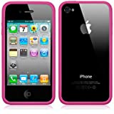BUMPER CASE FOR APPLE IPHONE 4S / IPHONE 4 - HOT PINK PART OF THE QUBITS ACCESSORIES RANGEby Qubits
