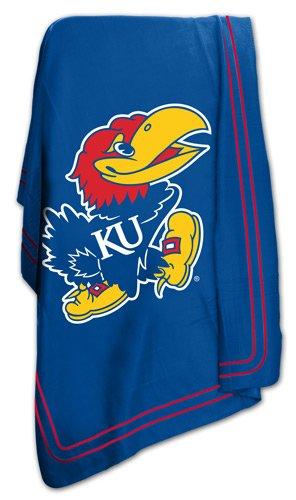 Kansas University Jayhawks KU Fleece Throw Blanket