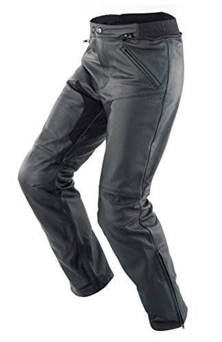 SPIDI - Pantaloni da Moto in Pelle New Naked, Nero, 48