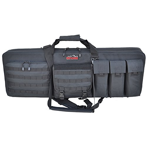 Great Deal! Explorer Rolling 3-Rifle Case, Black, 46 x 13.5 x 4-Inch