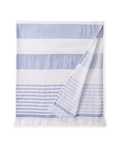 Nine Space Carmel Stripe Beach Towel, Dark Blue