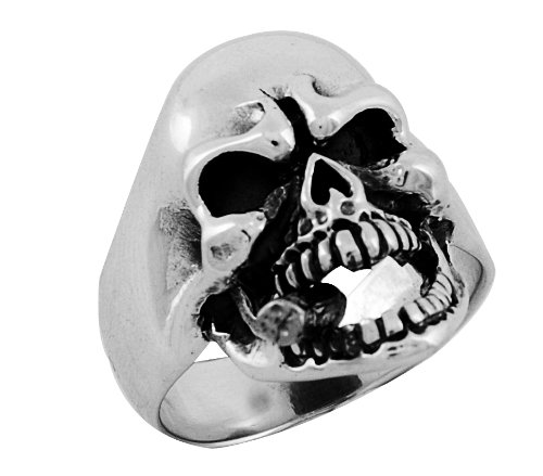 Stainless Steel Skull Ring (Available in Sizes 10 to 14)size10