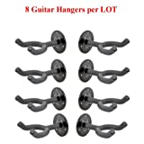 8-Pack Wall Mount Guitar Rack Hangers Stand Holder Hook 8/Lot GRAK-5