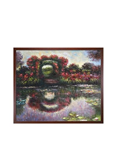 Claude Monet's Blutentore In Giverny Framed Hand Painted Oil On Canvas, Multi, 21.5 x 25.5