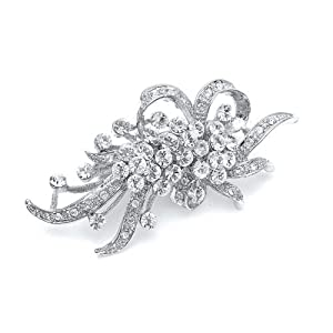 Mariell ~ Vintage Crystal Wedding Brooch