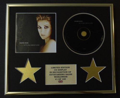 celine-dion-cadre-cd-edition-limitee-certificat-dauthenticite-lets-talk-about-love
