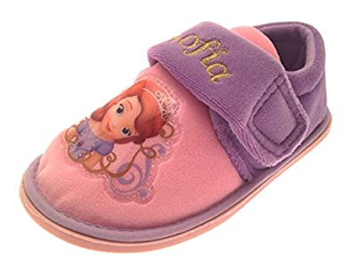 Kids Girls Disney Princess Sofia The First Slippers Velcro Shoes Childrens Size UK 4-10