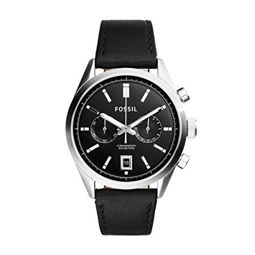 Herren-Armbanduhr Chronograph Quarz Leder CH2972