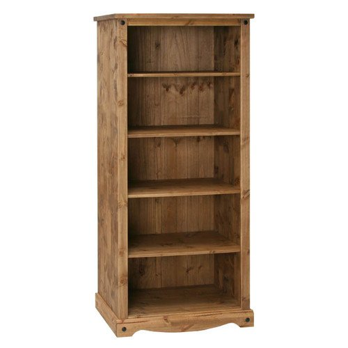 New Grade A Full Living Room Range - Mexican Pine Living Room Furniture - (Tall Bookcase) - Free Delivery Black Friday & Cyber Monday 2014