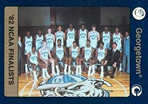 1982 Georgetown Team basketball card (Georgetown) 1991 Collegiate Collection #82