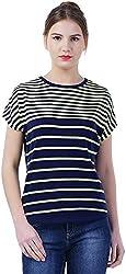 TSAVO Women's Regular Fit Top (1532_NAVY, Multi-Coloured, X-Small)